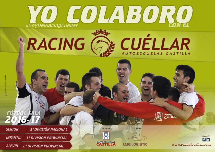 Cartel de colaboradores del Racing Cuéllar - Autoescuelas Castilla