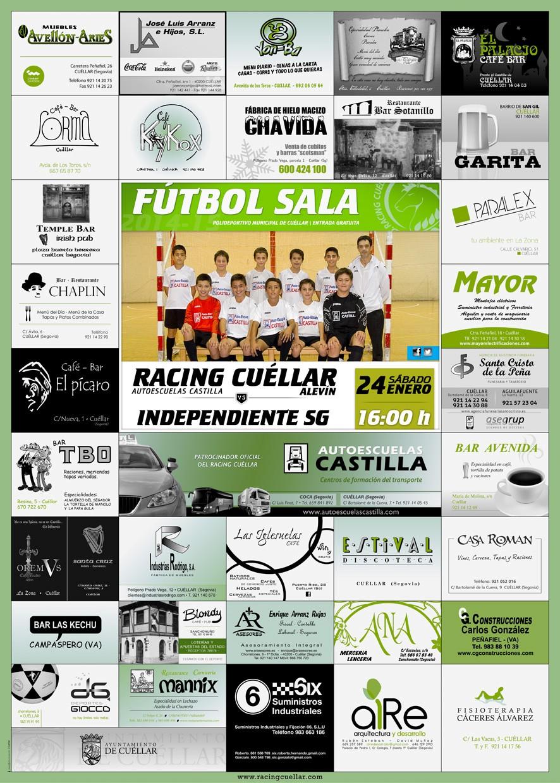 Cartel alevin 240115-Racing-Cuellar-14-15-J7A