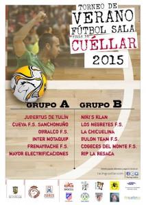 Grupos del Torneo de Verano de fútbol sala Villa de Cuéllar 2015