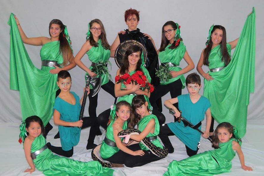 Imagen promocional del Ballet de Cuéllar, que esta tarde actuará en en partido del Racing Cuéllar