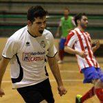 Miguel celebra un gol ante el Atlético Bembibre