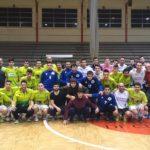 Participantes en el triangular del Torneo Benéfico del Racing Cuéllar 2017
